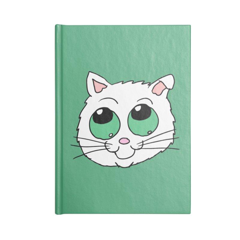 Green eyed Kitty Accessories Notebook by ericallen's Artist Shop