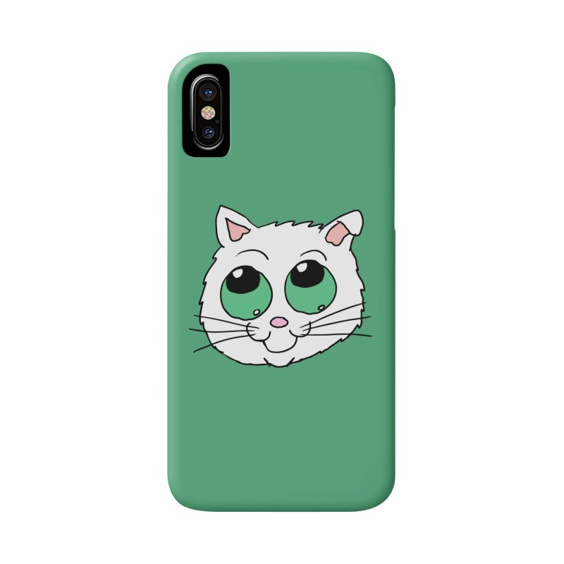 Green eyed Kitty Accessories Phone Case by ericallen's Artist Shop