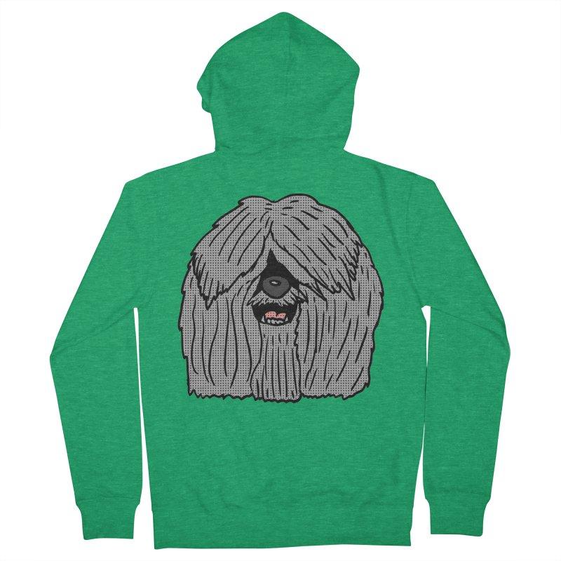 Sheepdog Head Women's Zip-Up Hoody by ericallen's Artist Shop