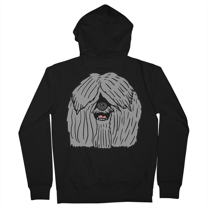 Sheepdog Head Men's Zip-Up Hoody by ericallen's Artist Shop