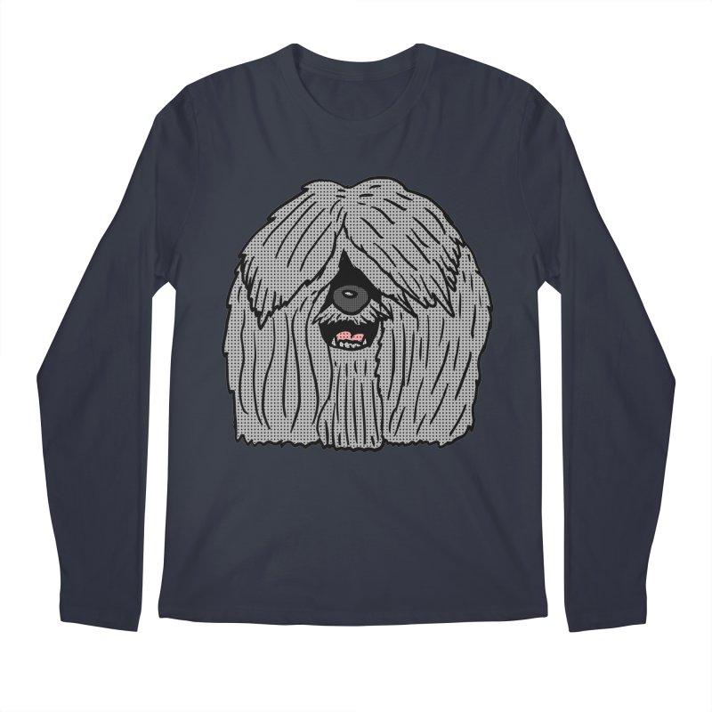 Sheepdog Head Men's Longsleeve T-Shirt by ericallen's Artist Shop