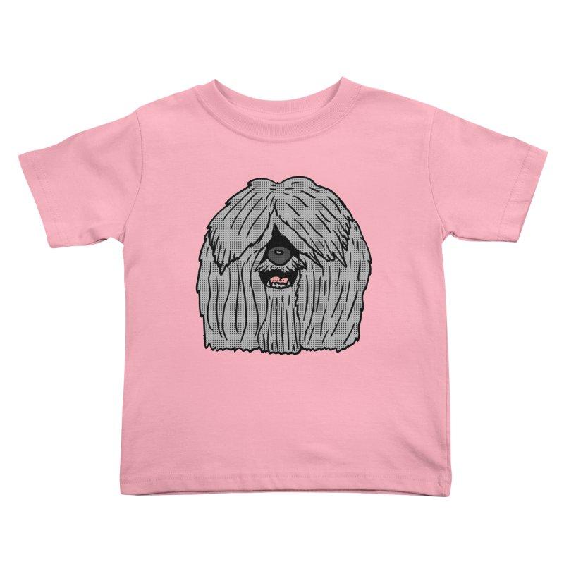 Sheepdog Head Kids Toddler T-Shirt by ericallen's Artist Shop