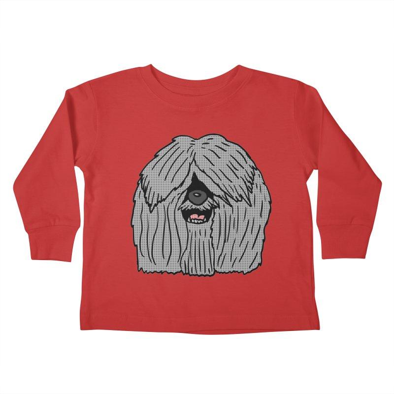 Sheepdog Head Kids Toddler Longsleeve T-Shirt by ericallen's Artist Shop
