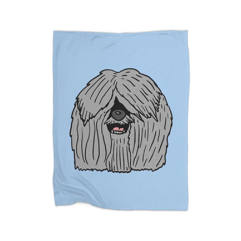 Sheepdog Head Home Blanket by ericallen's Artist Shop