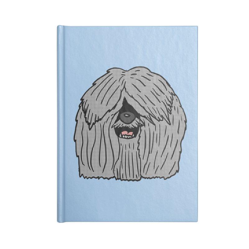 Sheepdog Head Accessories Notebook by ericallen's Artist Shop