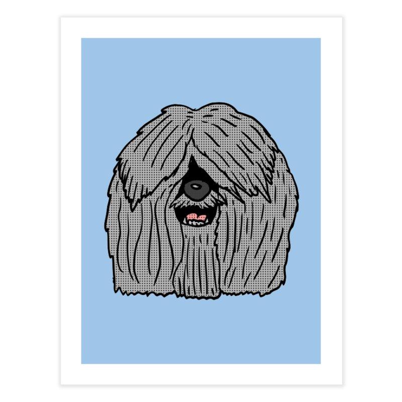 Sheepdog Head Home Fine Art Print by ericallen's Artist Shop