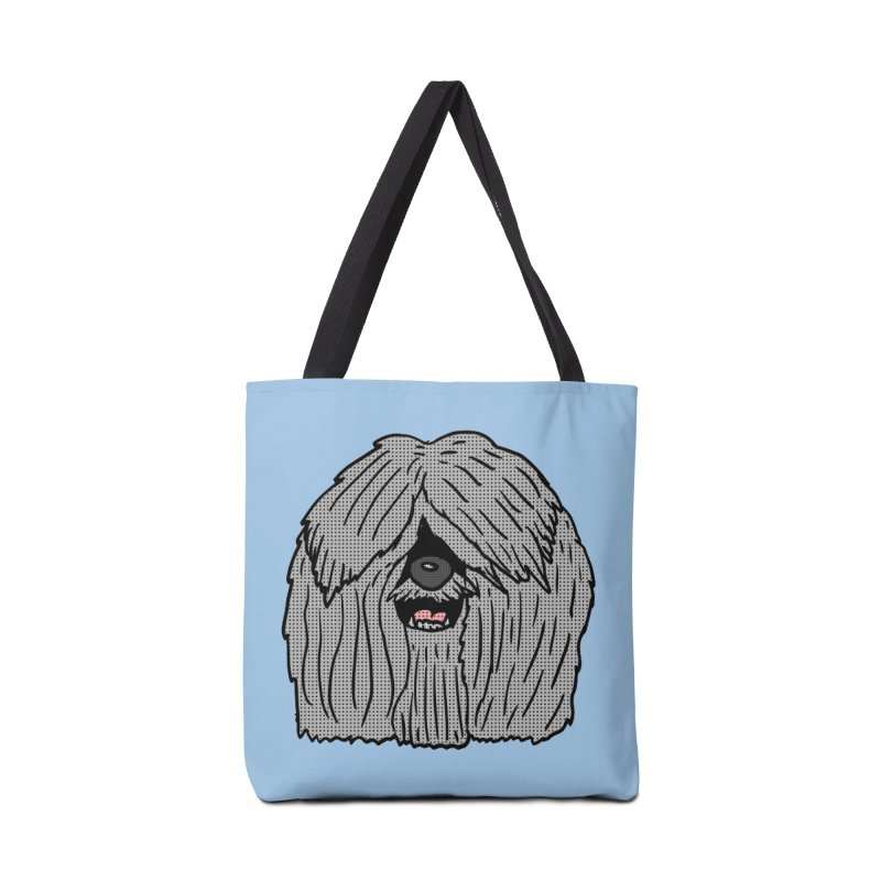 Sheepdog Head Accessories Bag by ericallen's Artist Shop