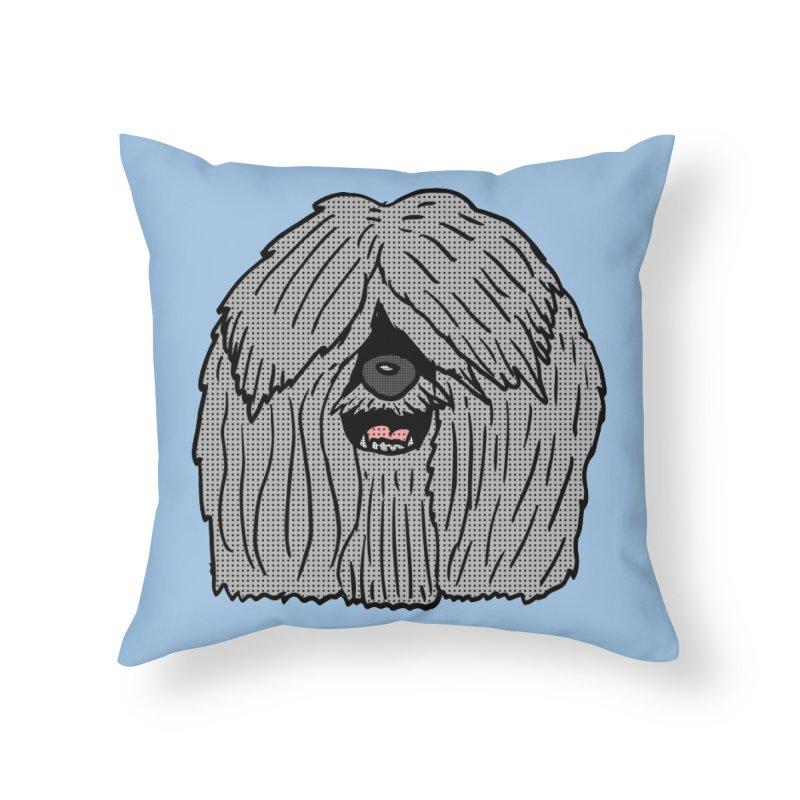 Sheepdog Head Home Throw Pillow by ericallen's Artist Shop