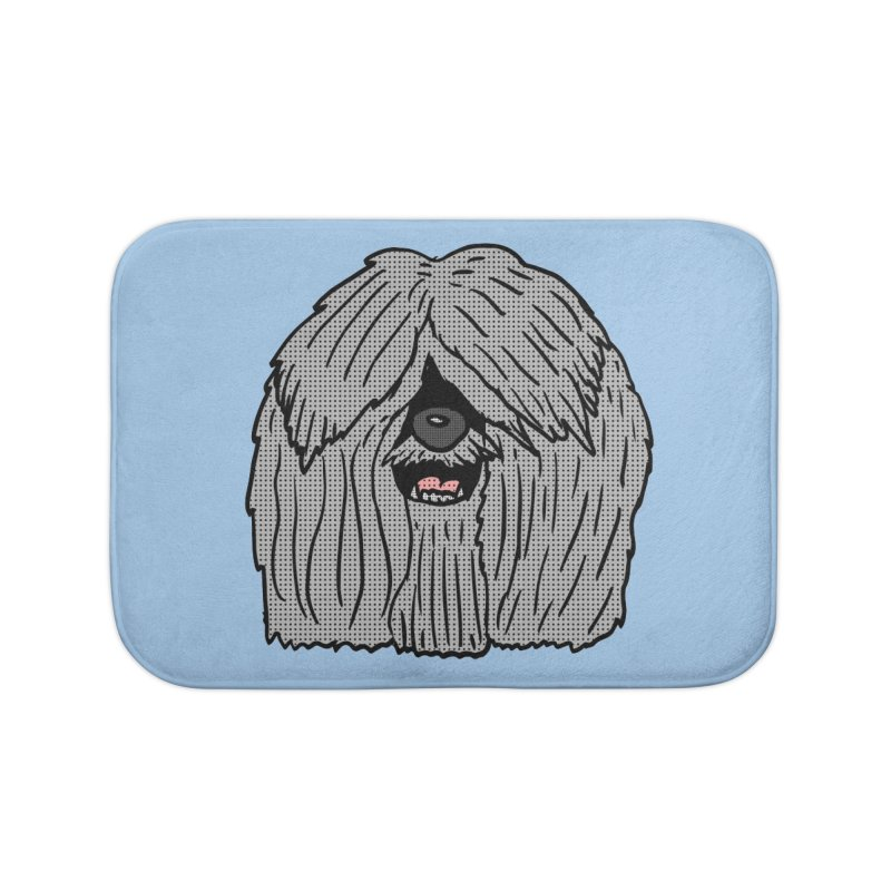 Sheepdog Head Home Bath Mat by ericallen's Artist Shop