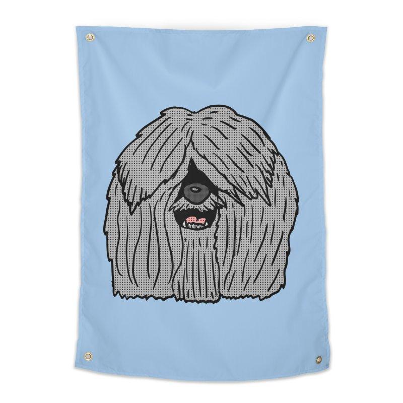 Sheepdog Head Home Tapestry by ericallen's Artist Shop