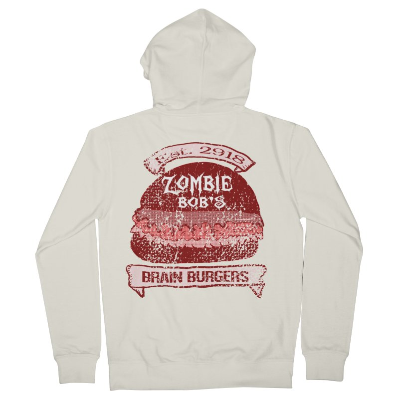 Zombie Bob's Brain Burgers (vintage) Women's Zip-Up Hoody by ericallen's Artist Shop