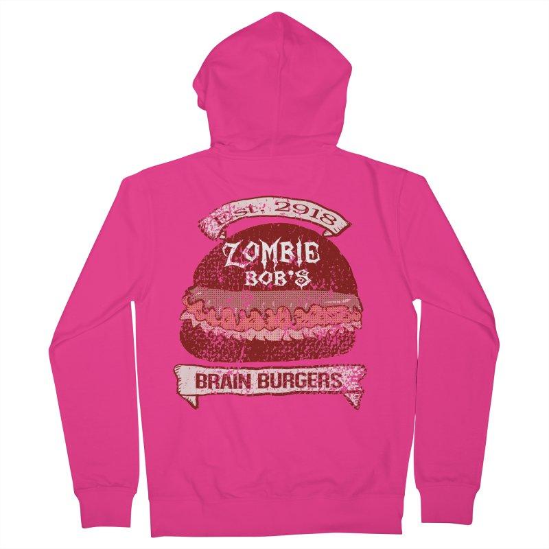 Zombie Bob's Brain Burgers (vintage) Men's Zip-Up Hoody by ericallen's Artist Shop