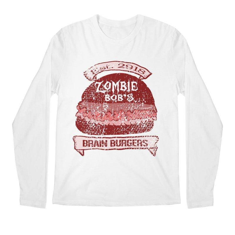 Zombie Bob's Brain Burgers (vintage) Men's Longsleeve T-Shirt by ericallen's Artist Shop