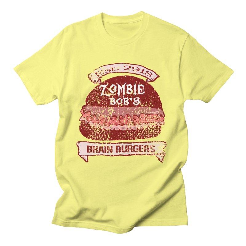Zombie Bob's Brain Burgers (vintage) Men's T-Shirt by ericallen's Artist Shop