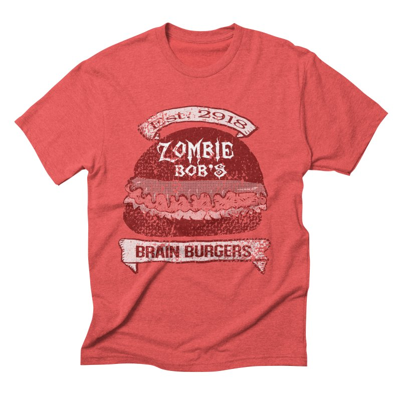 Zombie Bob's Brain Burgers (vintage) Men's Triblend T-Shirt by ericallen's Artist Shop