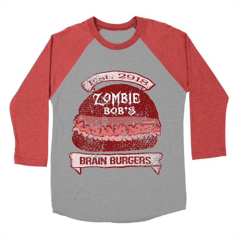 Zombie Bob's Brain Burgers (vintage) Women's Baseball Triblend T-Shirt by ericallen's Artist Shop