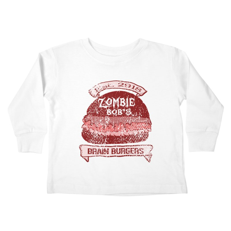 Zombie Bob's Brain Burgers (vintage) Kids Toddler Longsleeve T-Shirt by ericallen's Artist Shop
