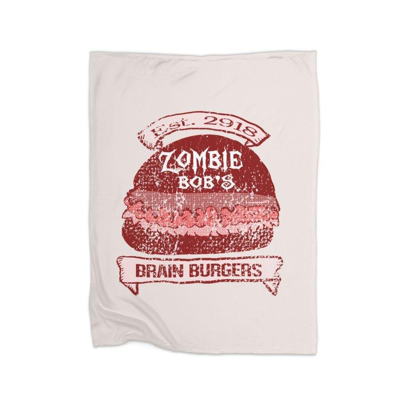 Zombie Bob's Brain Burgers (vintage) Home Blanket by ericallen's Artist Shop