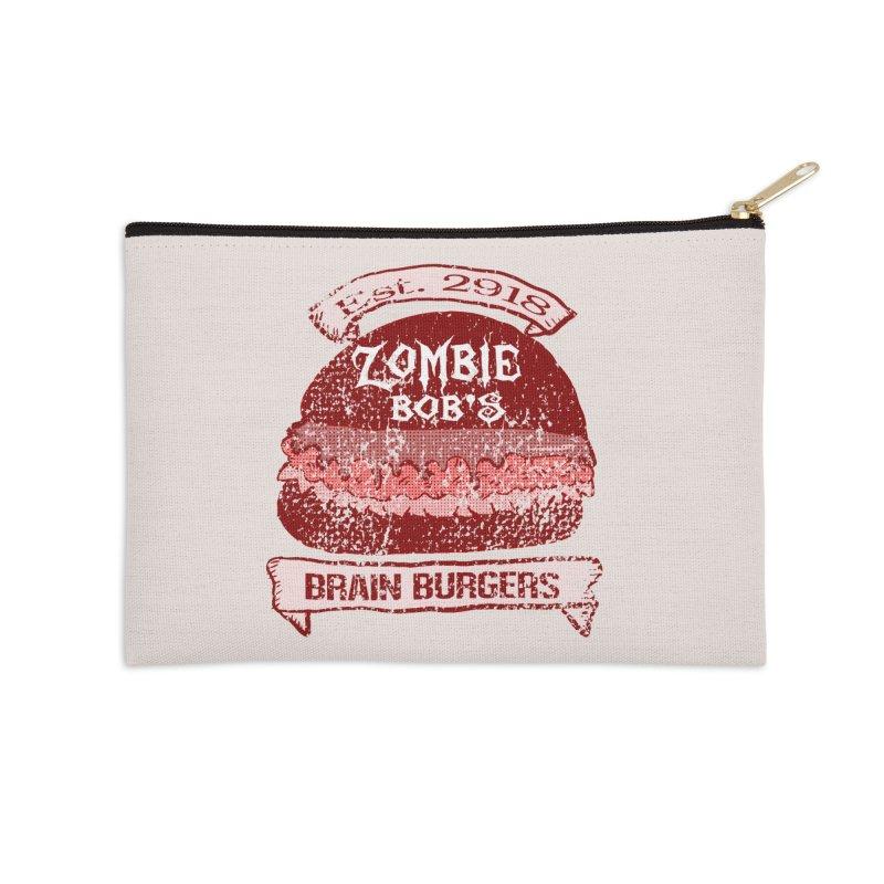 Zombie Bob's Brain Burgers (vintage) Accessories Zip Pouch by ericallen's Artist Shop