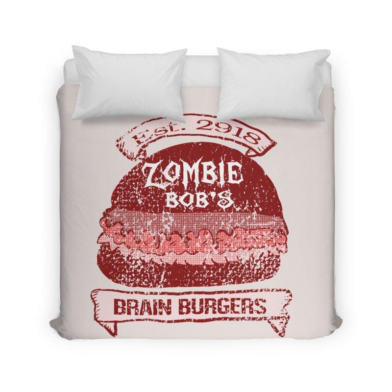 Zombie Bob's Brain Burgers (vintage) Home Duvet by ericallen's Artist Shop