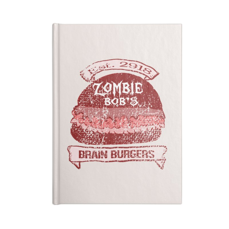 Zombie Bob's Brain Burgers (vintage) Accessories Notebook by ericallen's Artist Shop