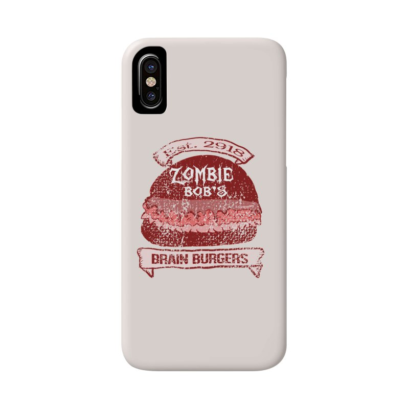 Zombie Bob's Brain Burgers (vintage) Accessories Phone Case by ericallen's Artist Shop