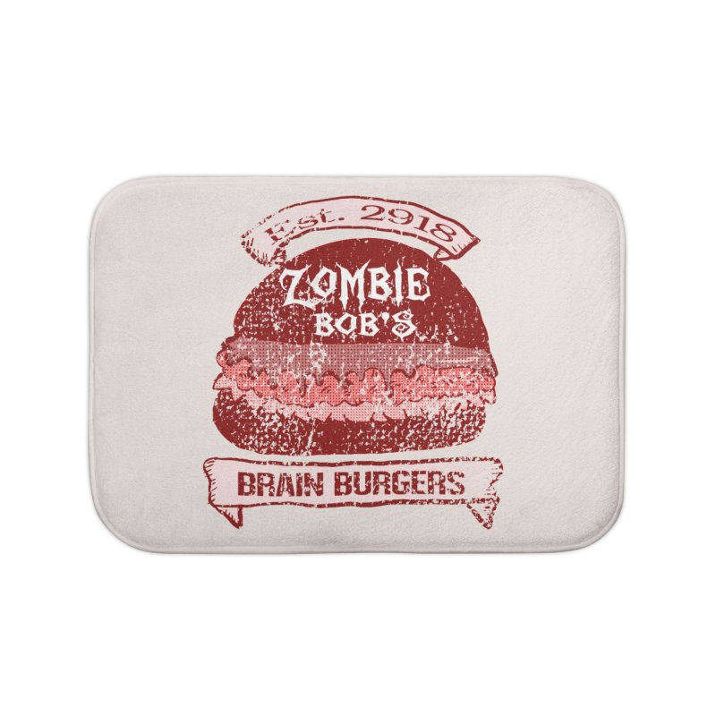 Zombie Bob's Brain Burgers (vintage) Home Bath Mat by ericallen's Artist Shop