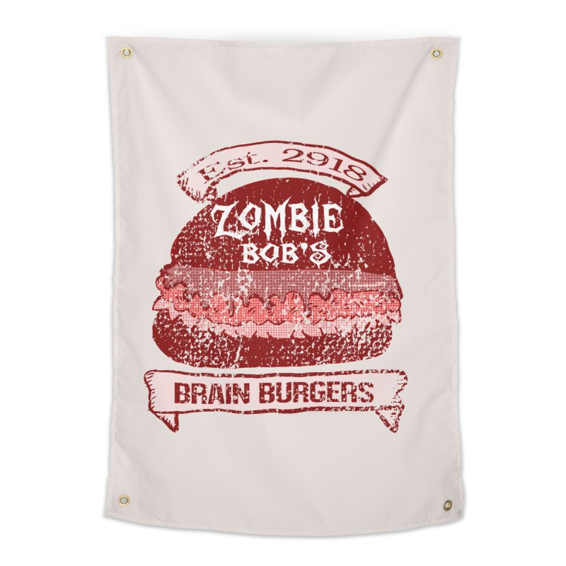 Zombie Bob's Brain Burgers (vintage) Home Tapestry by ericallen's Artist Shop