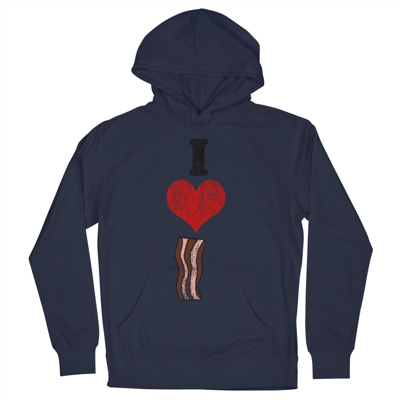 I Heart Bacon (vintage) Women's Pullover Hoody by ericallen's Artist Shop