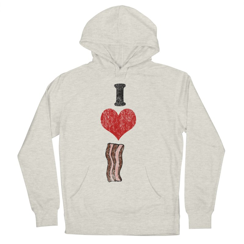 I Heart Bacon (vintage) Men's Pullover Hoody by ericallen's Artist Shop