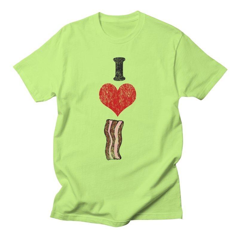 I Heart Bacon (vintage) Women's Unisex T-Shirt by ericallen's Artist Shop