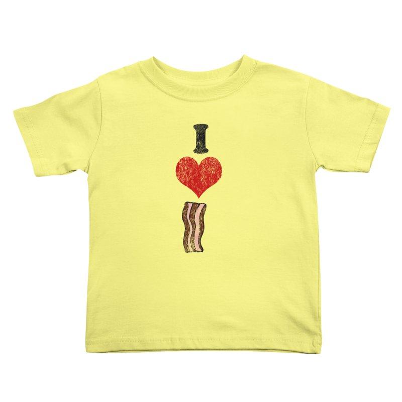I Heart Bacon (vintage) Kids Toddler T-Shirt by ericallen's Artist Shop