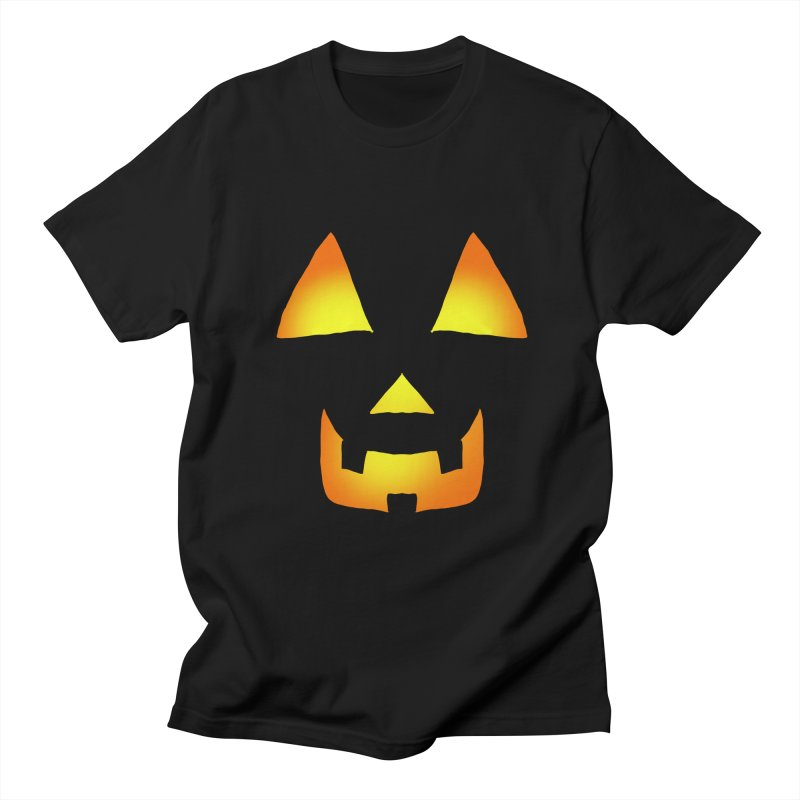 Glowing Jackolantern Face in Men's Regular T-Shirt Black by ericallen's Artist Shop