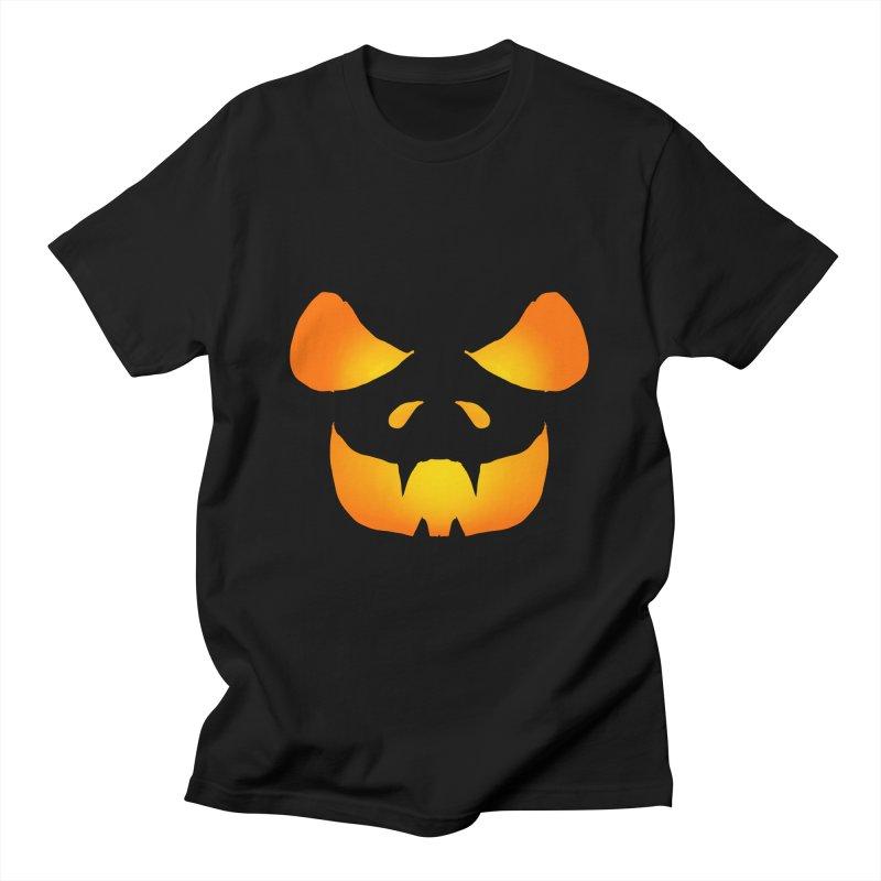 Evil Glowing Jackolantern Face in Men's Regular T-Shirt Black by ericallen's Artist Shop