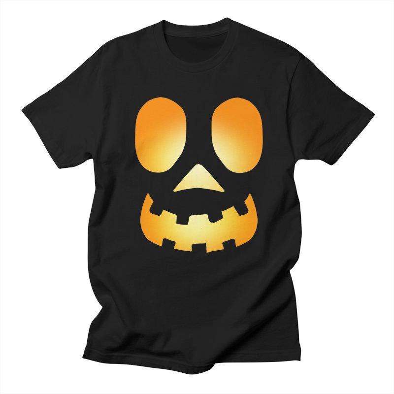 Glowing Jackolantern face 4 in Men's Regular T-Shirt Black by ericallen's Artist Shop