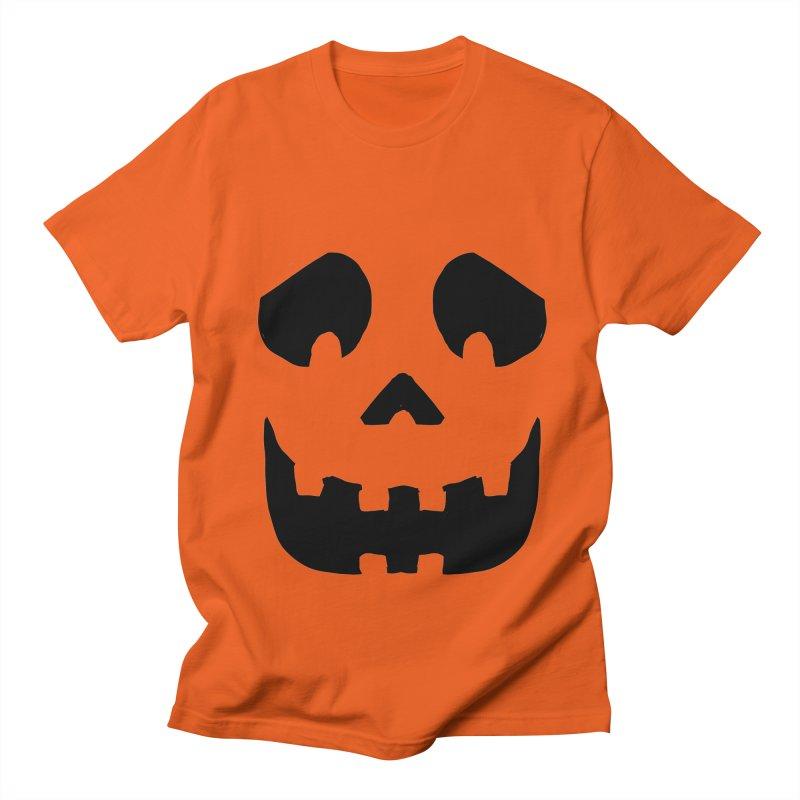 Funny Jackolantern face in Men's Regular T-Shirt Orange Poppy by ericallen's Artist Shop