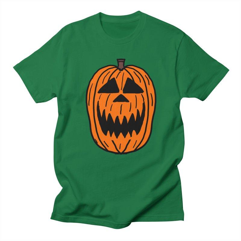 Sharp Teeth Pumpkin in Men's Regular T-Shirt Kelly Green by ericallen's Artist Shop