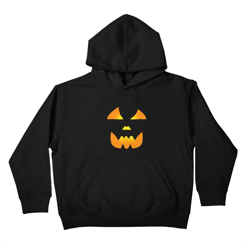Glowing Jackolantern face 02 Kids Pullover Hoody by ericallen's Artist Shop