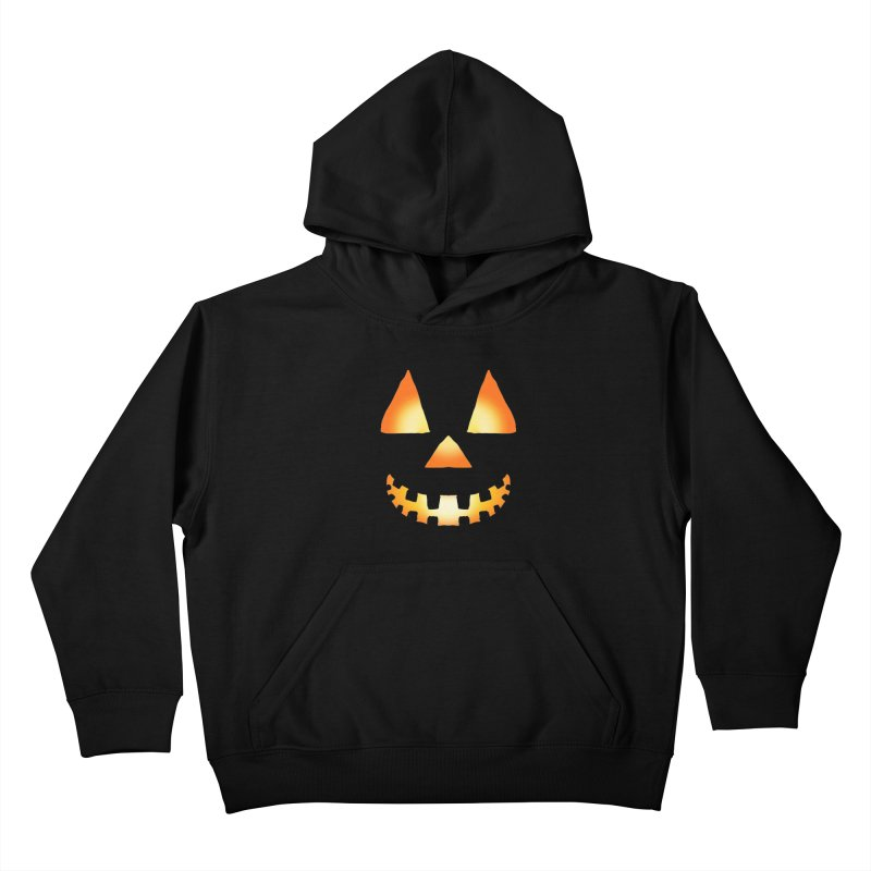 Glowing Jackolantern Face 03 Kids Pullover Hoody by ericallen's Artist Shop
