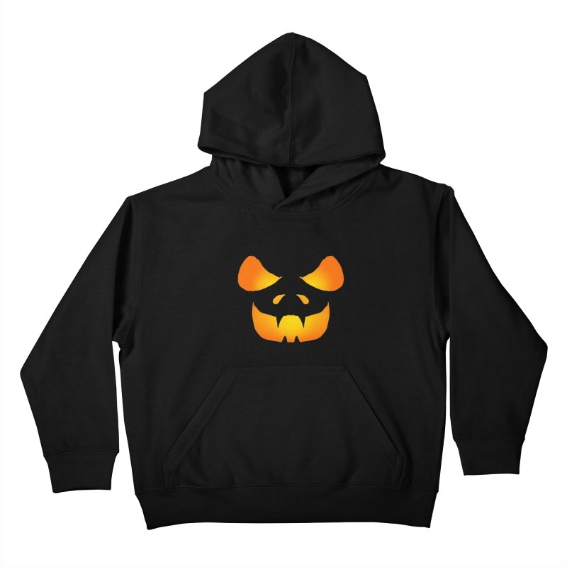 Evil Glowing Jackolantern Kids Pullover Hoody by ericallen's Artist Shop