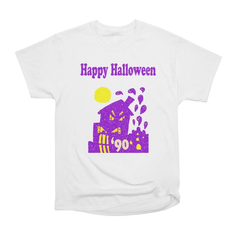 Vintage Happy Halloween 1990 in Men's Heavyweight T-Shirt White by ericallen's Artist Shop