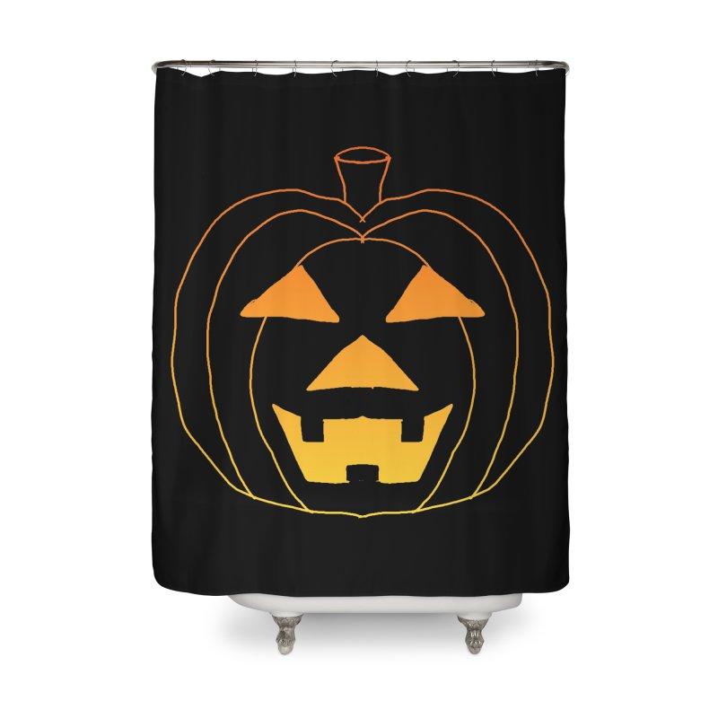 Glowing Pumpkin Home Shower Curtain by ericallen's Artist Shop