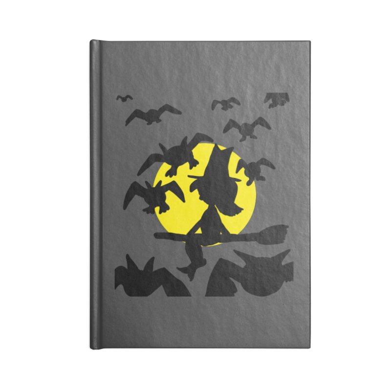 Witch and Bats Accessories Notebook by ericallen's Artist Shop