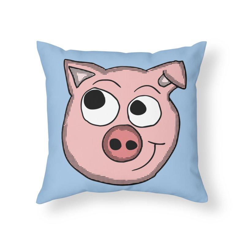 Peter Pig Home Throw Pillow by ericallen's Artist Shop
