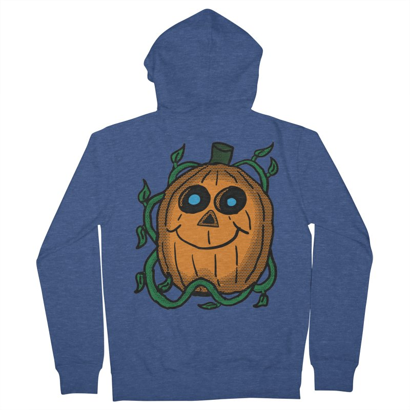 Fall Pumpkin Women's French Terry Zip-Up Hoody by ericallen's Artist Shop