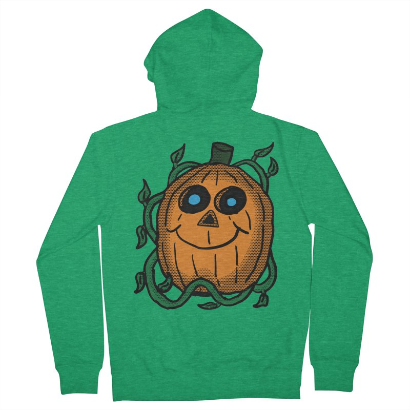 Fall Pumpkin Men's French Terry Zip-Up Hoody by ericallen's Artist Shop