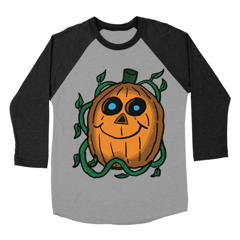 Fall Pumpkin Women's Baseball Triblend Longsleeve T-Shirt by ericallen's Artist Shop