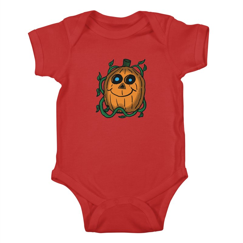 Fall Pumpkin Kids Baby Bodysuit by ericallen's Artist Shop