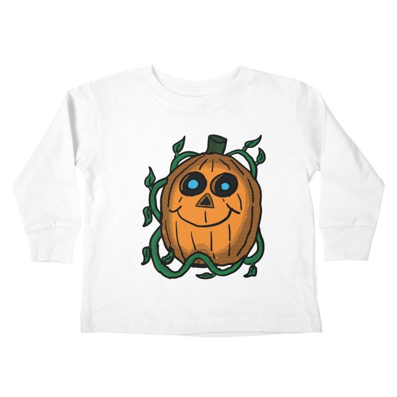 Fall Pumpkin Kids Toddler Longsleeve T-Shirt by ericallen's Artist Shop