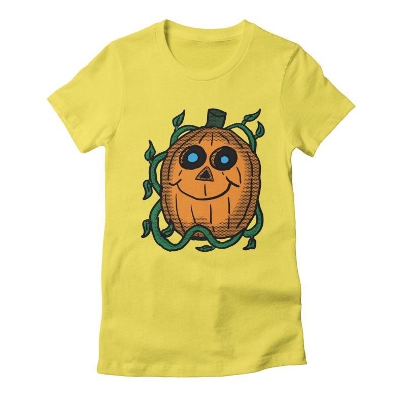 Fall Pumpkin Women's Fitted T-Shirt by ericallen's Artist Shop